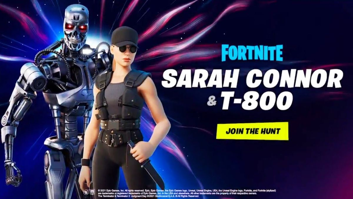 Fortnite agrega máscaras de Terminator y Sarah Connor