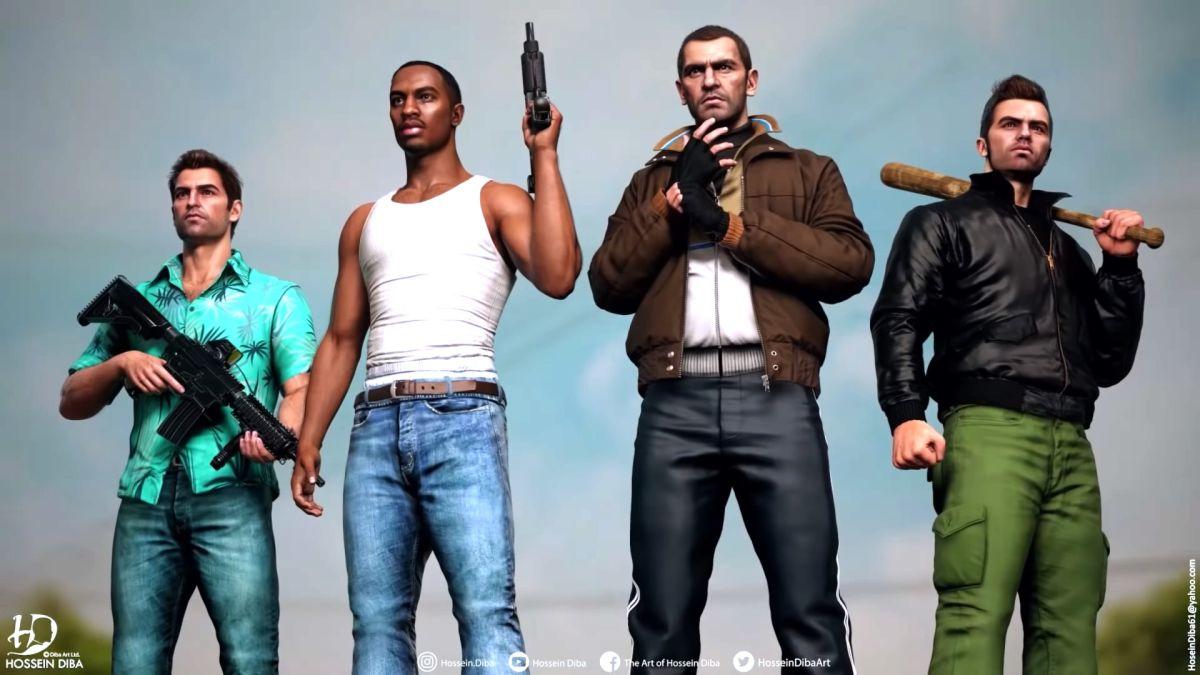 Los protagonistas de GTA han sido rediseñados con detalles modernos para el equipo de incursión definitivo.