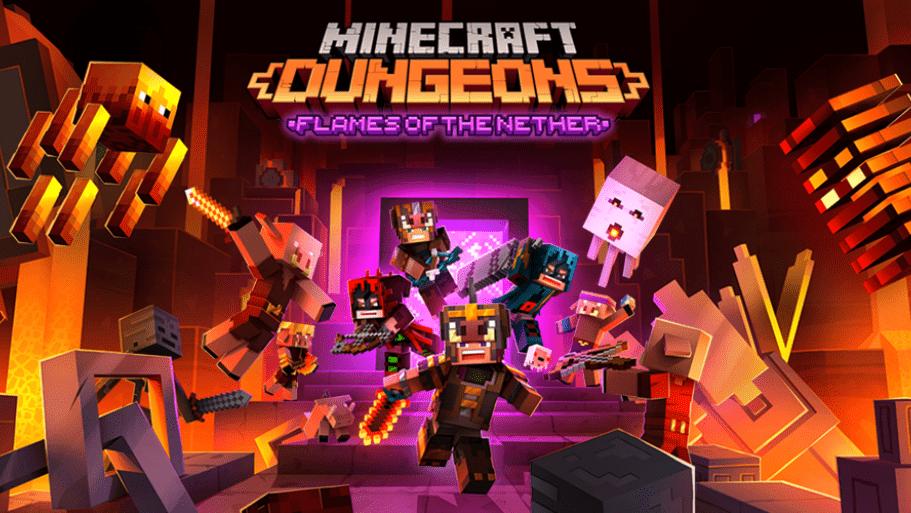 """Flames of the Nether y la actualización gratuita """"más ambiciosa"""" que llegará a Minecraft Dungeons este mes"""