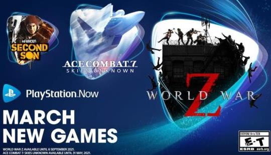 Marzo Juegos de PS Now: World War Z, Ace Combat 7: Skies Unknown, InFamous: Second Son y Superhot