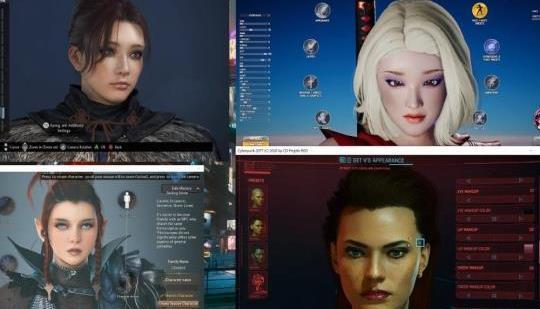 Comparación de las herramientas de creación de personajes de 4 juegos: ¿cuál es mejor?