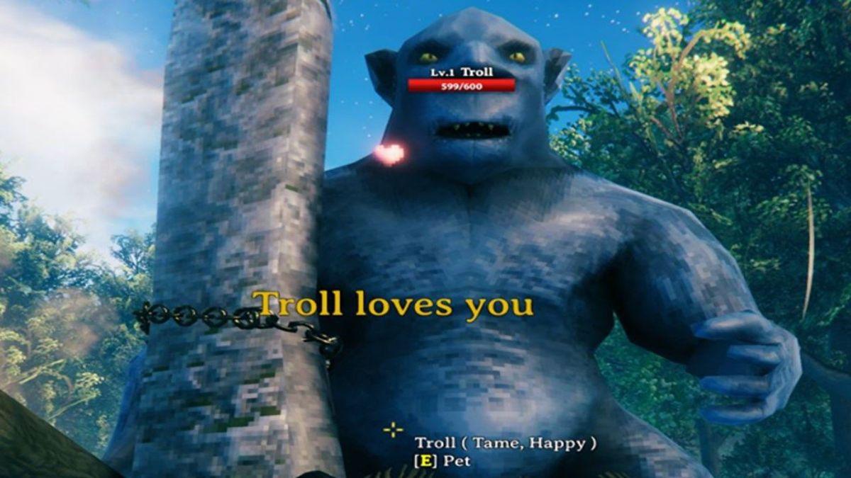 Con el Valheim Mod puedes domesticar a los trolls y hacer pequeños trolls locos