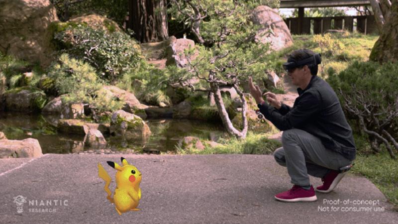 Niantic demo Pokemon Go con la tecnología HoloLens AR de Microsoft