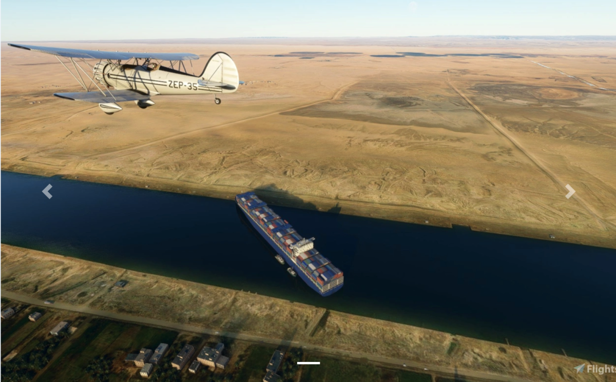 Alguien agregó el buque de carga Suez capturado a Microsoft Flight Simulator