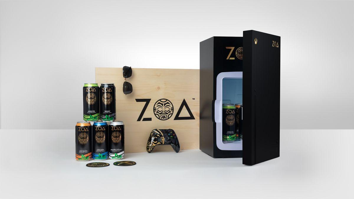 Podrías ganar una mini nevera Xbox Series X equipada con la nueva bebida energética de Dwayne 'The Rock' Johnson