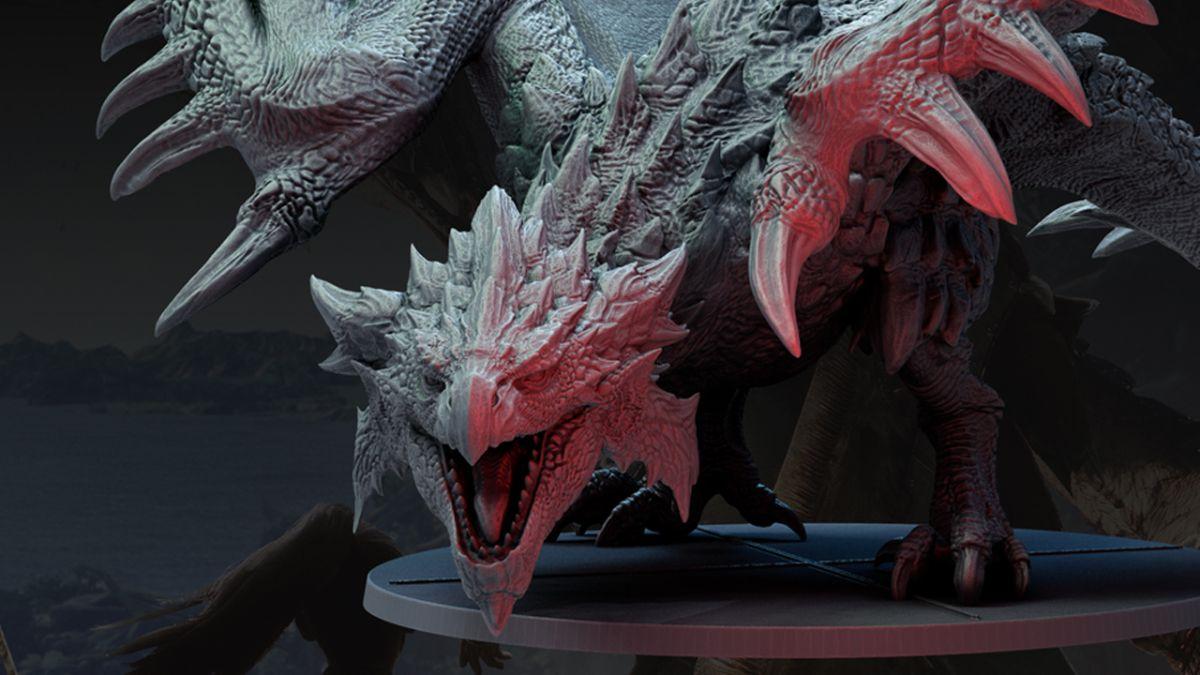 Monster Hunter World: el juego de mesa está en la carretera con un modelo que mide más de un metro de altura