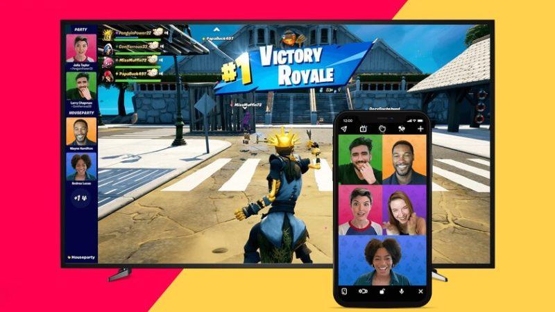 La aplicación Houseparty se actualiza para que puedas transmitir tus juegos de Fortnite