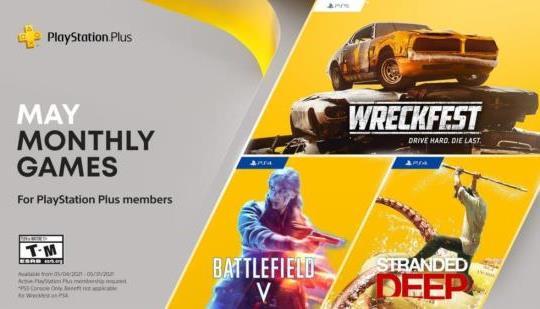 Juegos de PlayStation Plus para mayo: Battlefield V, Stranded Deep, Wreckfest: Drive Hard.  Muere último.