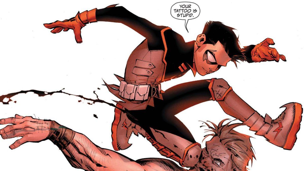 Damian Wayne patea el culo en Robin # 1 Preview
