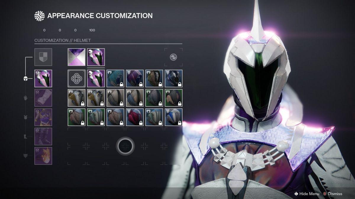 El sistema de transfiguración de Destiny 2 limita la cantidad de jugadores a 10 adornos gratis por clase y temporada.