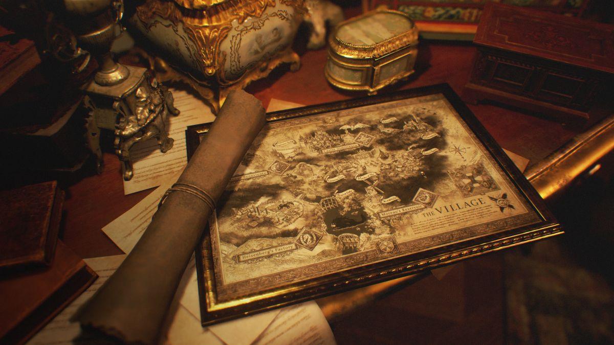 Aquí está nuestro primer vistazo al mapa de Resident Evil Village