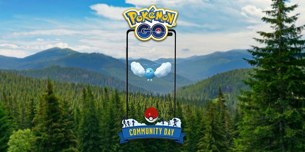El adorable pájaro de algodón Swablu se puede ver en el Día de la Comunidad de Pokémon Go de mayo