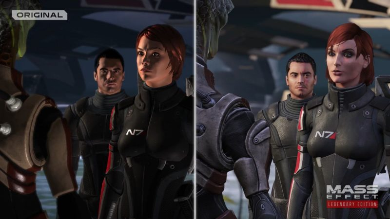 Echa un vistazo al tráiler comparativo oficial de Mass Effect Legendary Edition 4K