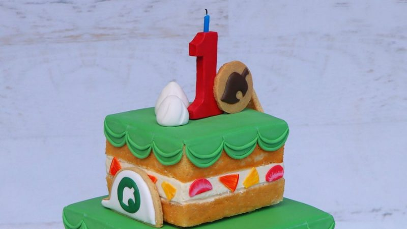 Animal Crossing: New Horizons Anniversary Cake fue recreado en la vida real