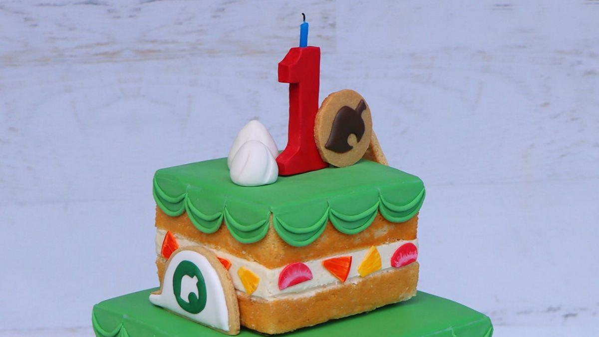 Animal Crossing: New Horizons Anniversary Cake fue recreado en la vida real