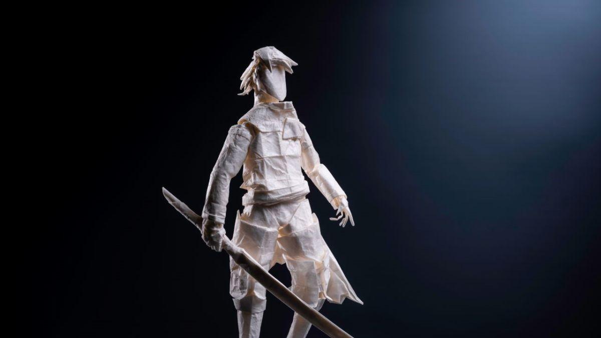 Los personajes de Nier Replicant fueron recreados como modelos de origami después de 200 horas de trabajo.