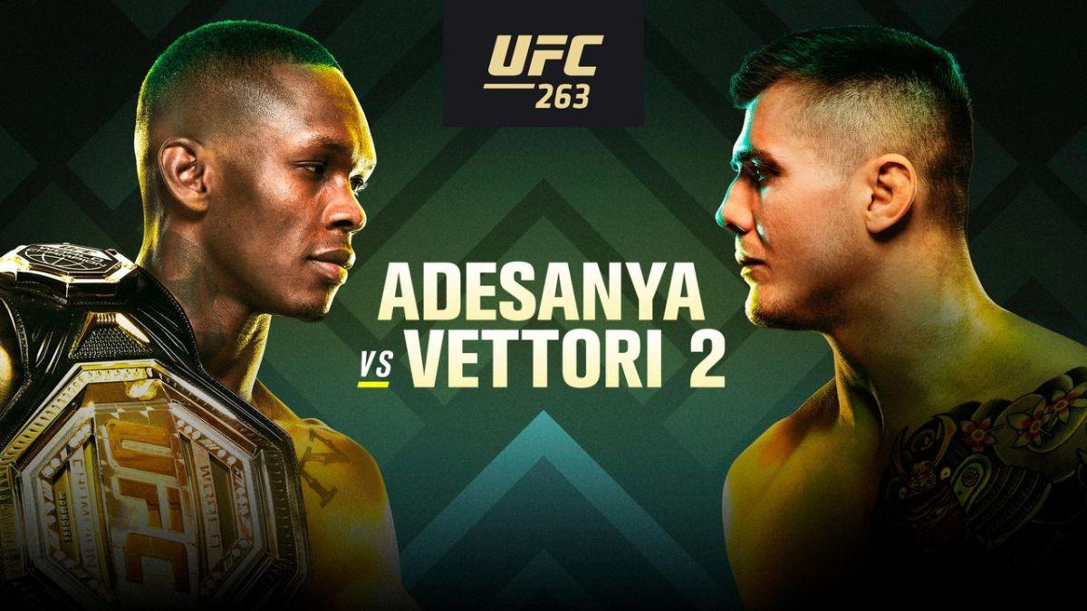 Transmisión en vivo de UFC 263: Adesanya vs Vettori Ver en línea, opción gratuita, horas de inicio y detalles completos del mapa
