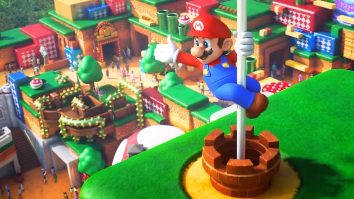 La construcción de Donkey Kong fue vista en Super Nintendo World en Japón
