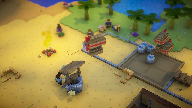 Mezcla de Minecraft, Factory y The Settlers