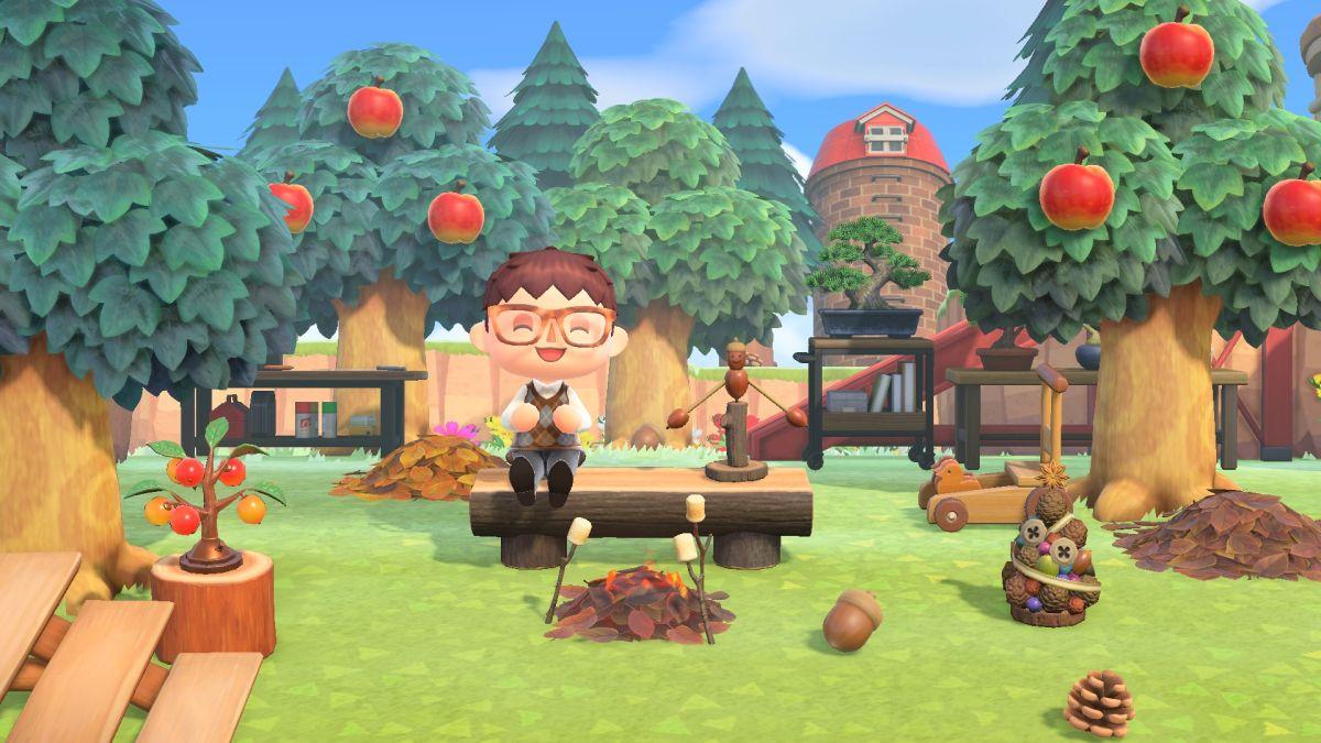 Animal Crossing: New Horizons da la bienvenida a bellotas y piñas cuando el otoño se apodera